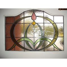 stained glass panels | stained-glass-hand-made-panels049-1930-s-nouveau-stained-glass-panel ...