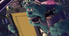 Monsters, Inc. Sully & Boo Doors Screaming GIF