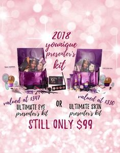 January & February CHOICE OF TWO Younique Presenter Kits! Which will you choose? Learn more at www.youniquelyemma.ca