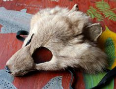 Real dyed Arctic fox mask by Lupa. At https://www.etsy.com/listing/206818907/real-eco-friendly-beige-dyed-arctic-fox