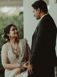 Christian Wedding Sarees, Christian Weddings, Christian Bride, Wedding Sari, Wedding Bride, Kerala Wedding Photography, Wedding Couple Poses Photography, Brides Maid Gown, Wedding Blessing