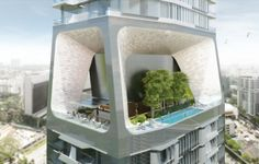 The Scotts Tower SOHO apartment building by UNStudio is located in Singapore.