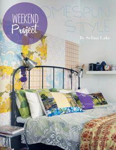 Poppytalk: Weekend Project: Homespun Style