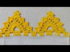 BARRADO # 82 CARREIRA ÚNICA - YouTube Crochet Edging Patterns, Crochet Borders, Filet Crochet, Crochet Designs, Crochet Shoes, Crochet Lace, Saree Kuchu Designs, Basic Embroidery Stitches, Crochet Videos