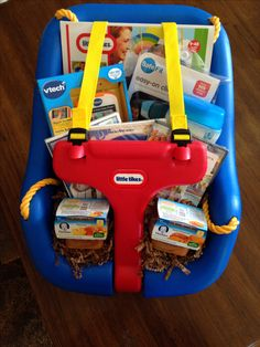 Swing Easter Basket idea for toddler