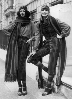 Mary Quant designs circa 1975 - These scarves rock!