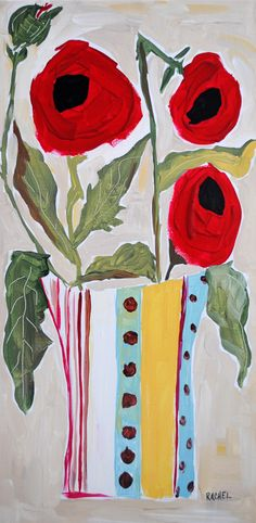 """Talula"" Poppy painting by:Rachel Cordaro"