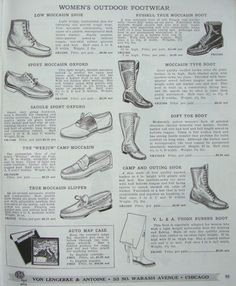 1939 Camping and Hiking Boots and Shoes | The Vintage Traveler
