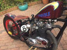 Triumph Chopper, Triumph Bobber, Bobber Bikes, Bobber Motorcycle, Triumph Bonneville, Vintage Cafe Racer, Twisted Metal, Bobbers, Choppers