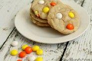 White Chocolate Candy Corn M Cookies - YUMMY!!