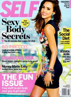 Jessica Alba Has Fun in Self Magazine