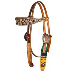 Only at Teskey's! Cactus Saddlery browband headstall from the Fallon Taylor collection features serape print overlay outlined with copper parachute dots and copper berry buckles to dress up it up! Includes floral tooling, light oil finish, and stainless steel hardware. Pair with the matching Fallon Taylor Leopard and Serape one ear headstall, or breastcollar for the perfect match!