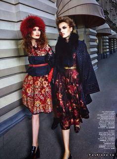 Designer Antonio Marras, fashion photograph from 'Vogue Russia'. Russian Beauty, Russian Fashion, Russian Style, Russian Folk, Fashion Shoot, Editorial Fashion, Fashion Beauty, Folk Fashion, Modern Fashion