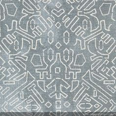 """ZAK+FOX Textiles and Design   An obscure antique stencil once used to decorate kimonos in the early 1900s served as the inspiration for """"Katagami"""" – an earthy, tribally spirited design with an inky touch."""