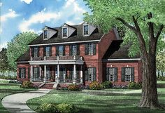 Find your dream southern style house plan such as Plan which is a 3394 sq ft, 5 bed, 3 bath home with 3 garage stalls from Monster House Plans. Colonial House Plans, Southern House Plans, Colonial Style Homes, Southern Homes, Southern Style, House Floor Plans, Style At Home, Architectural Design House Plans, Architecture Design