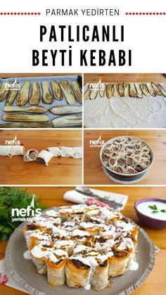 Videolu anlatım Patlıcanlı Beyti Kebabı Nasıl Yapılır? 7.097 kişinin defterindeki Patlıcanlı Beyti Kebabı'ın videolu anlatımı ve deneyenlerin fotoğrafları burada. #patlıcan #beyti #kebap #ramazan #iftar