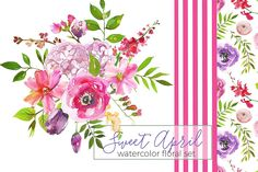 My Watercolor Floral Bundle-95% off  by whiteheartdesign on @creativemarket