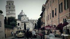 Pisa toscana Turm Kutsche street