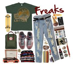 """""""Freaks: freaks and geeks"""" by candy-thief ❤ liked on Polyvore featuring Fjällräven, Golden Goose, Crosley, Social Anarchy, Threshold, MANGO, Mudd, Topshop, Element and FRUIT"""
