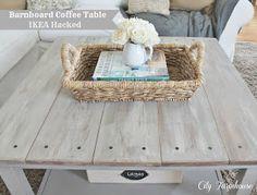 Barnwood Table-IKEA Hack-Full tutorial City Farmhouse
