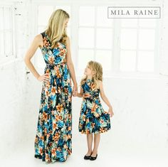 These floral maxi dresses are all the rage! Order yours today from Mila Raine!