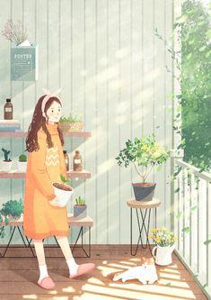 插画 Blouses and Tops wonder woman t shirt walmart Illustration Girl, Watercolor Illustration, Anime Art Girl, Illustrations And Posters, Aesthetic Art, Cute Drawings, Cute Wallpapers, Cat Art, Art Inspo