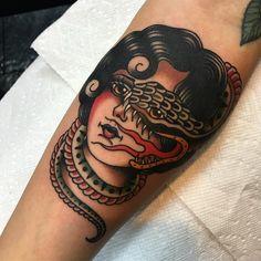 Phil DeAngulo @ Behind The Circle Tattoo #traditional #tattoo #traditionaltattoo #tattoos #traditionaltattoos