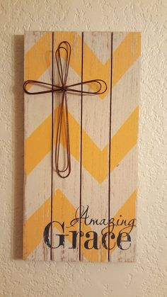 Rustic Wire Amazing Grace Wood with Wire by KnotJustCrochetHere