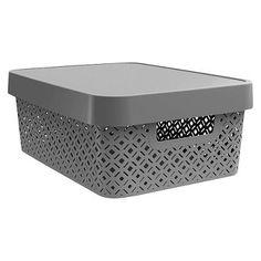 Decorative Medium Bin   Gray   Room Essentials™ · College  OrganizationStorage ...
