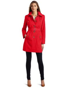 #Tommy #Hilfiger Women's Emma Classic Spring Notch Belted Trench #Coat              http://amzn.to/H91Ebl