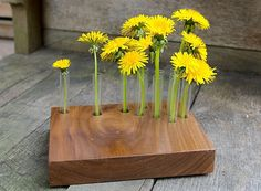 spring has sprung. great bud vase for a table centerpiece