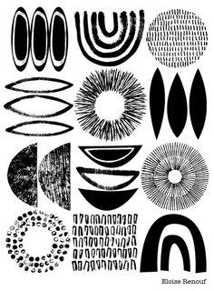 Schetsboek No1 is een gloednieuwe afdrukken voor 2013, en bevat veel van mijn favoriete decoratieve elementen uit recente kunstwerken, alsmede nieuwe degenen. Ik geniet van de relaties tussen de verschillende vormen en texturen en contrasten en evenwicht die zij produceren wanneer in een patroon...