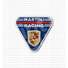 Martini Racing Porsche Emblem Sticker for - Stickers Automotive Porsche 356, Porsche Logo, Racing Stickers, Cafe Racer Style, Martini Racing, Vintage Tractors, Garage Art, Vespa Scooters, Auto Service