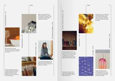 this would be a cool layout for about section with photos or artwork representing staff Magazine Layout Design, Book Design Layout, Graphic Design Layouts, Print Layout, Graphic Design Inspiration, Index Design, Graphisches Design, Buch Design, Design Model