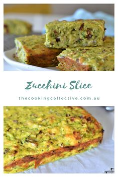 This tasty zucchini slice recipe is so simple to make and is a fun recipe to cook with kids. It can be made ahead and stored in the freezer for easy lunches Yummy Healthy Snacks, Healthy Eating, Healthy Recipes, Healthy Kids, Easy Zucchini Slice, Real Food Recipes, Cooking Recipes, Lunch Box Recipes