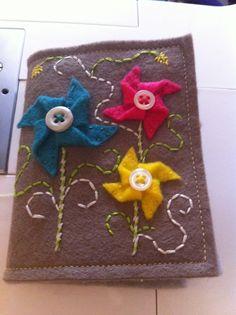 pinwheel needle book