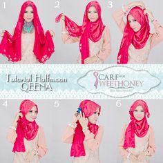 Hijab Look post Simple Hijab Tutorial, Hijab Simple, Hijab Style Tutorial, Muslim Hijab, Muslim Dress, Diy Scarf, Loop Scarf, Mehndi, Hashtag Hijab