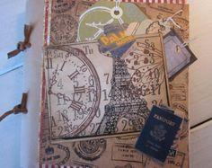 Travel Journal por BagLadyLulu en Etsy