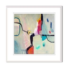Anniversary abstract painting New homeowners gift art above