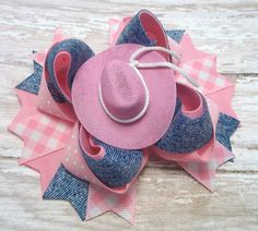 Country Girl Handmade Hair Bow Western by JustinesBoutiqueBows
