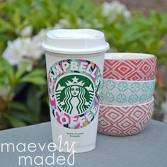 Super cute personalized & reusable Starbucks cup in your favorite Lilly Pulitzer patterns. https://www.etsy.com/listing/233602051/personalized-lilly-pulitzer-starbucks