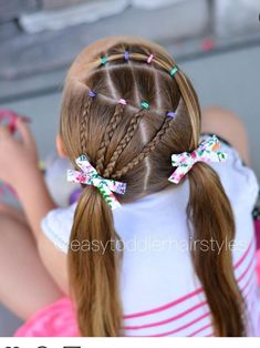 Easy Toddler Hairstyles, Cute Little Girl Hairstyles, Girls Natural Hairstyles, Kids Braided Hairstyles, Ballet Hairstyles, Work Hairstyles, Baby Hair Cut Style, Girls Hairdos, Baby Girl Hair