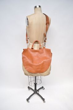 vintage leather bag satchel MAIL BAG handbag  by goodbyeheartwoman
