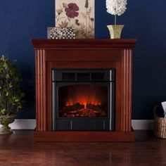 Where To Buy Martel Classic Mahogany Convertible Petite Electric Fireplace