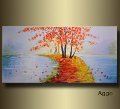 Original Acrylic Abstract painting Modern Art thick by aggoart, $268.00