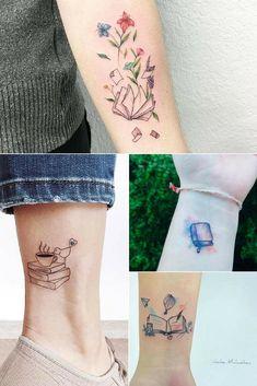 Librarian Tattoo, Writer Tattoo, Book Tattoo, Mini Tattoos, Body Art Tattoos, Small Tattoos, Tatoos, Bookish Tattoos, Literary Tattoos