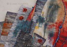 Sue Hotchkis Susan Hotchkis textile designer stitched abstract art