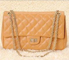 Gold Chain Handbags, Category: 2.55 Reissue, Color: Apricot Elephant Pattern