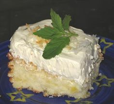"""Cuban Mojito Cake- lowfat & made with Rum flavoring.  A great Summer time quick cake.  Tip- 1 tsp rum flavor was too """"tart"""" for me.  I found the perfect mix to  be 3/4 tsp rum flavoring and 1/2 tsp vanilla flavor.  So good!"""