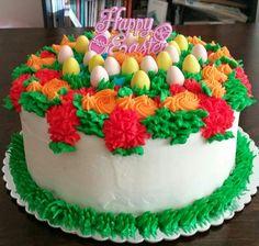 Easter Cake - Vanilla Cake w/Cherry Buttercream Filling